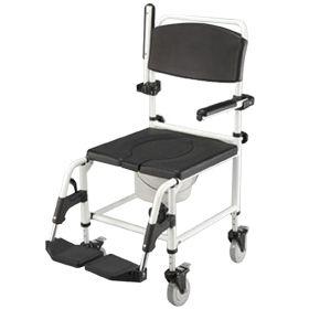 Sedia da doccia e da comodo con ruote piccole ausili per - Sedia da bagno ...