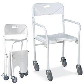 Sedia da doccia con ruote piccole pieghevole ausili per - Sedia da bagno per disabili ...