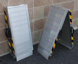 Rampe mobili in alluminio ausili per disabili e anziani for Rampe pieghevoli alluminio