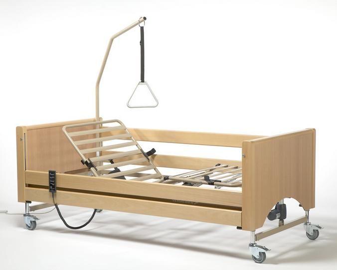Letto ortopedico elettrico in legno materasso antidecubito