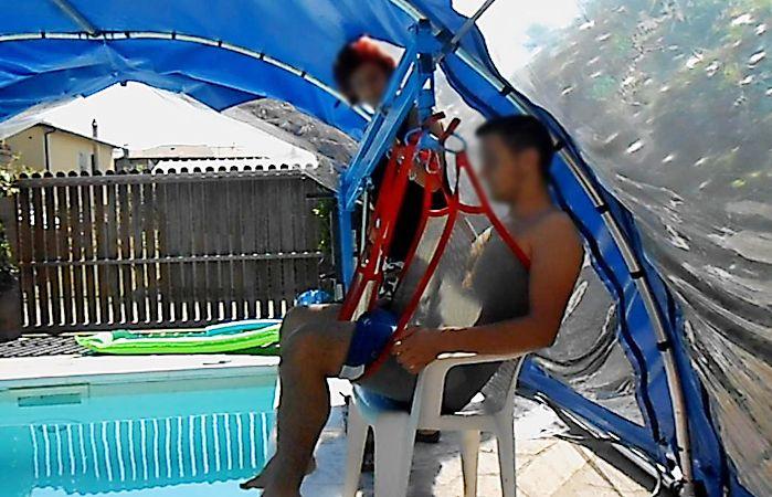 Sollevatore a bandiera economico ausili per disabili e - Sollevatore piscina per disabili ...