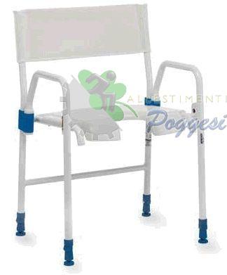 Sedia da doccia per disabili aqcuatec galaxy ausili per disabili e anziani online - Sedia da bagno per disabili ...