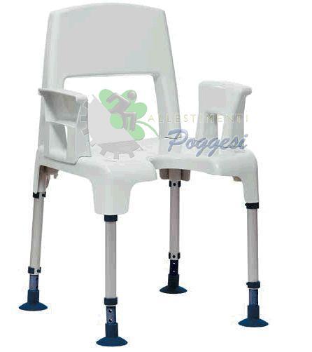 Sedia da doccia per disabili acquatec pico ausili per - Sedia da bagno per disabili ...