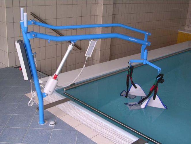Sollevatori Mobili Per Piscina : Sollevatore per piscina fissato a bussola con imbragatura ausili