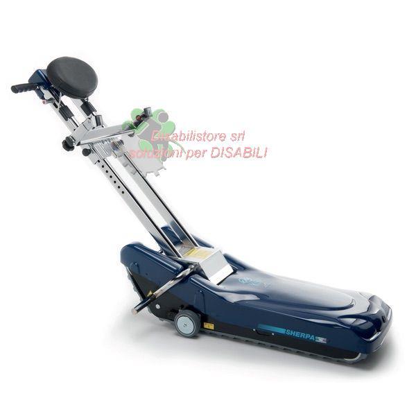 Saliscale montascale cingolato ksp sherpa n957 portata 150 for Trattorino disabili