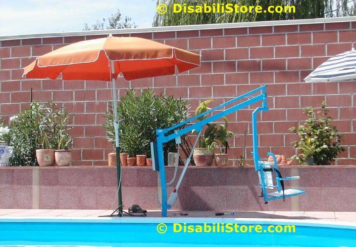 Sollevatori Mobili Per Piscina : Sollevatore per piscina fissato a bussola con seggetta ausili per