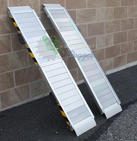 Coppia di rampe pieghevoli in alluminio ausili per for Rampe pieghevoli alluminio