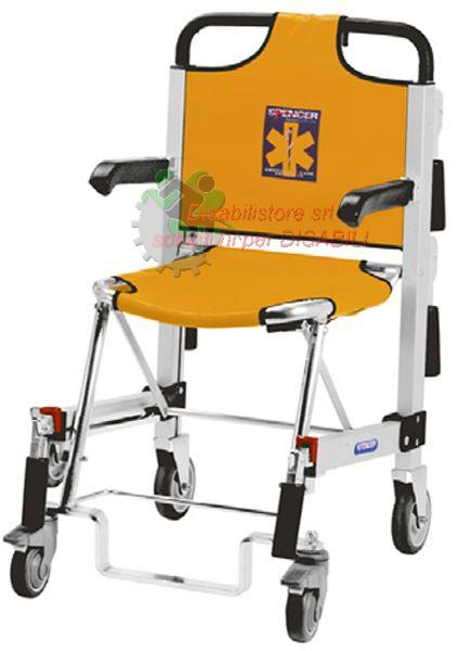 SEDIA PORTANTINA 4 RUOTE SPENCER 455 . Ausili per disabili ...