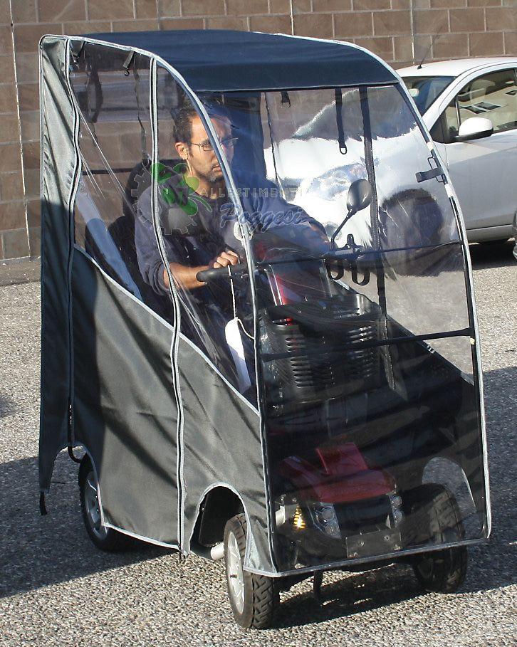 Con questa bellissima e pratica copertura lo scooter elettrico per anziani e  disabili Victory XL140 si usa anche in inverno. 71acd23d8f9d