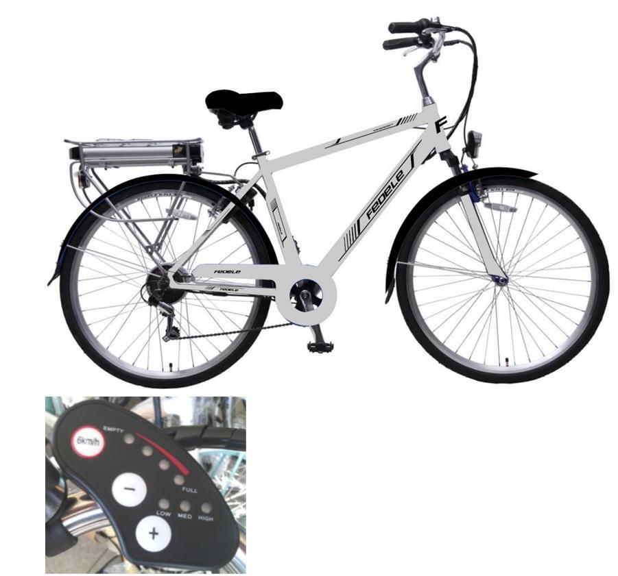 bicicletta elettrica con acceleratore e pedalata assistita. Black Bedroom Furniture Sets. Home Design Ideas